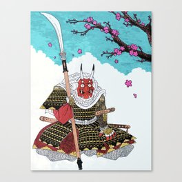 Demon Samurai Canvas Print