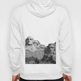 Mount Rushmore National Memorial South Dakota Presidents Faces Graphic Design Illustration Hoody
