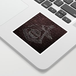 Anubis Egyptian God Sticker