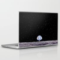 neil gaiman Laptop & iPad Skins featuring Neil Armstrong by Enrico Barin Guarise
