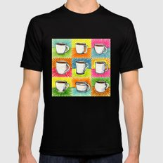 I drew you 9 little mugs of coffee Mens Fitted Tee Black MEDIUM