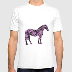 Friesian Scribble MEDIUM White Mens Fitted Tee