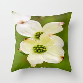 March of the Dogwood Throw Pillow