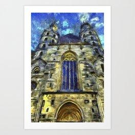 St Stephens Cathedral Vienna Van Goth Art Print