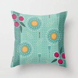 Sashiko Meadow II Throw Pillow