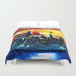 Hogwarts Castle At Sunset Duvet Cover