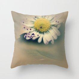 Daisy with glitter Throw Pillow