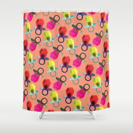 love ring Shower Curtain