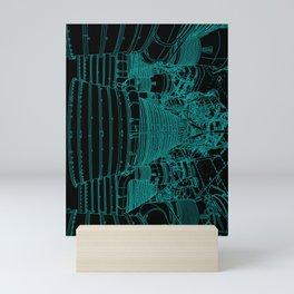 Apollo Rocket Booster - Green Neon Mini Art Print