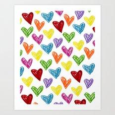 Hearts Parade Art Print