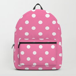 Pink & White Polka Dots Backpack