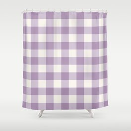 Lavender Gingham Shower Curtain