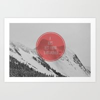 best friend Art Prints featuring best friend by Jesse Robinson Williams