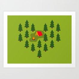 Camping Love Art Print