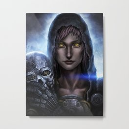 Steampunk Assassin Metal Print