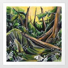 Filtered Forest Art Print