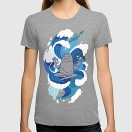 One With The Waves - Ocean, surfing, mindfulness T-shirt