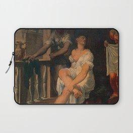 Domenico Riccio - Bathsheba at her bath Laptop Sleeve