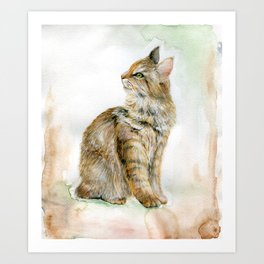 Cat. Inspired By Naturalists Art Print