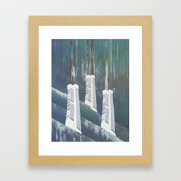 white chimneys / 19-09-16 Framed Art Print