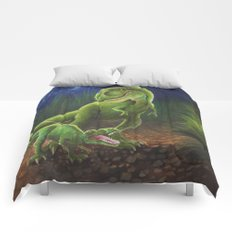 T-Rex Mother and Young Comforters