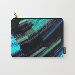 Abstract Strands Of Aqua And Green Fractal Light Carry-All Pouch