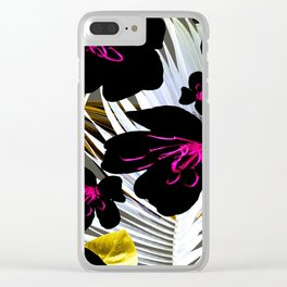 Black Orchid Clear iPhone Case