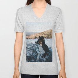 Dog by Will Swann Unisex V-Neck