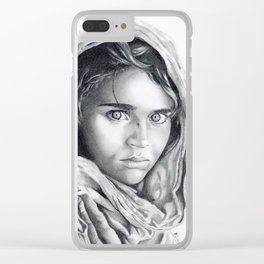 Afghan girl by Steve McCurry Clear iPhone Case
