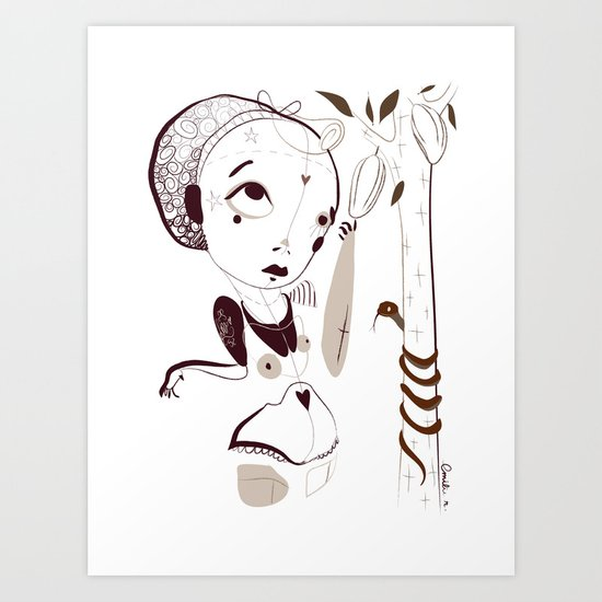"""""""Tell me your song"""" project /1/ Death by chocolate - Emilie Record Art Print"""