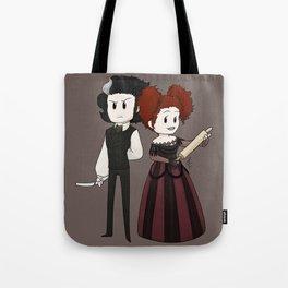Sweeney Todd & Mrs. Lovett Tote Bag