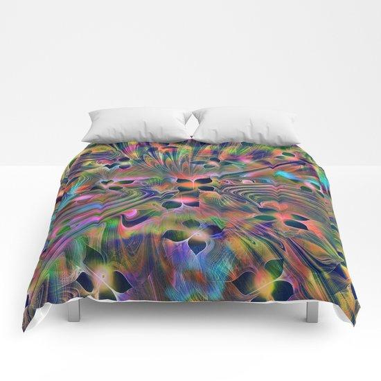 Floral Fractal Comforters