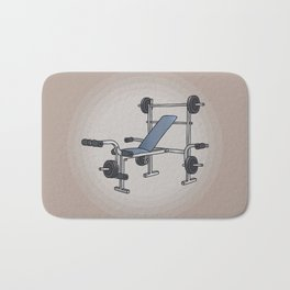 Weight bench bodybuilding Bath Mat