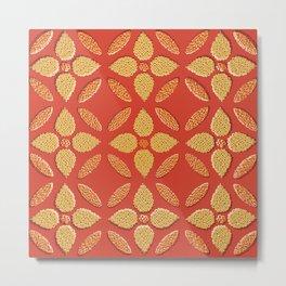 Jaipur Trellis Saffron Metal Print