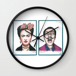 Frida and Salvador Wall Clock