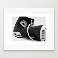 converse Framed Art Prints featuring Converse by Jessy Belanger