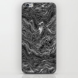 MELTED MARBLE BLACK iPhone Skin