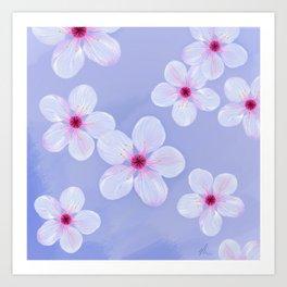 Cherry Blossoms - Painting Art Print