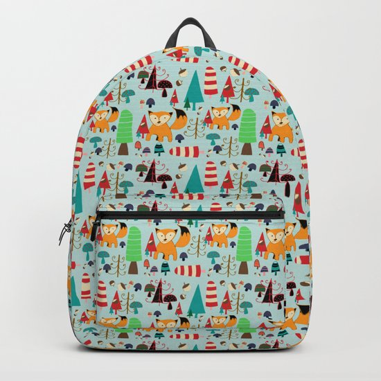 Woodland fox blue Backpack
