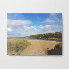 Crantock Beach, Cornwall Metal Print