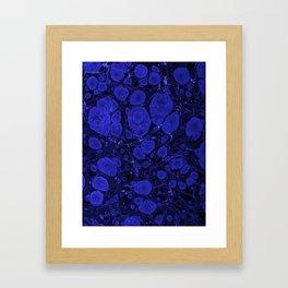 Tova - abstract art for home decor dorm college office minimal navy indigo blue Framed Art Print