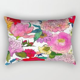Peonies & Roses Rectangular Pillow