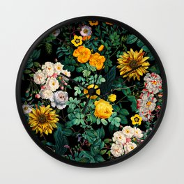 Midnight Garden XX Wall Clock