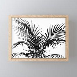 Little palm tree in black Framed Mini Art Print