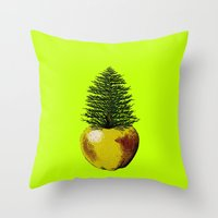 pinapple Throw Pillows featuring PinApple by Sberla