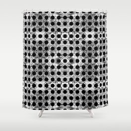 black dot system Shower Curtain