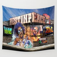 mac Wall Tapestries featuring JC MAC DRE by the artist J©