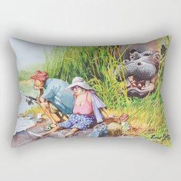 hippo! Rectangular Pillow