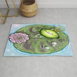 Frog Prince on His Lily Pad Rug