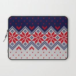 Winter knitted pattern 11 Laptop Sleeve